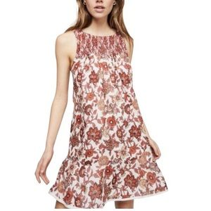 NWOT Free People Oh Baby Mini Dress Floral Smocked